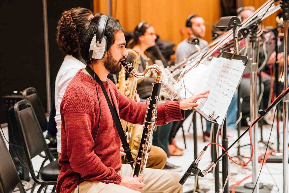 CalArts Jazz Album recording at Capitol Records